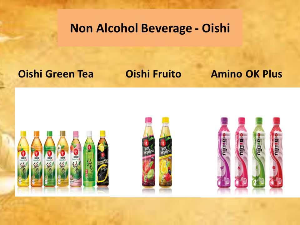 Non Alcohol Beverage - Oishi Oishi Green Tea Oishi Fruito Amino OK Plus