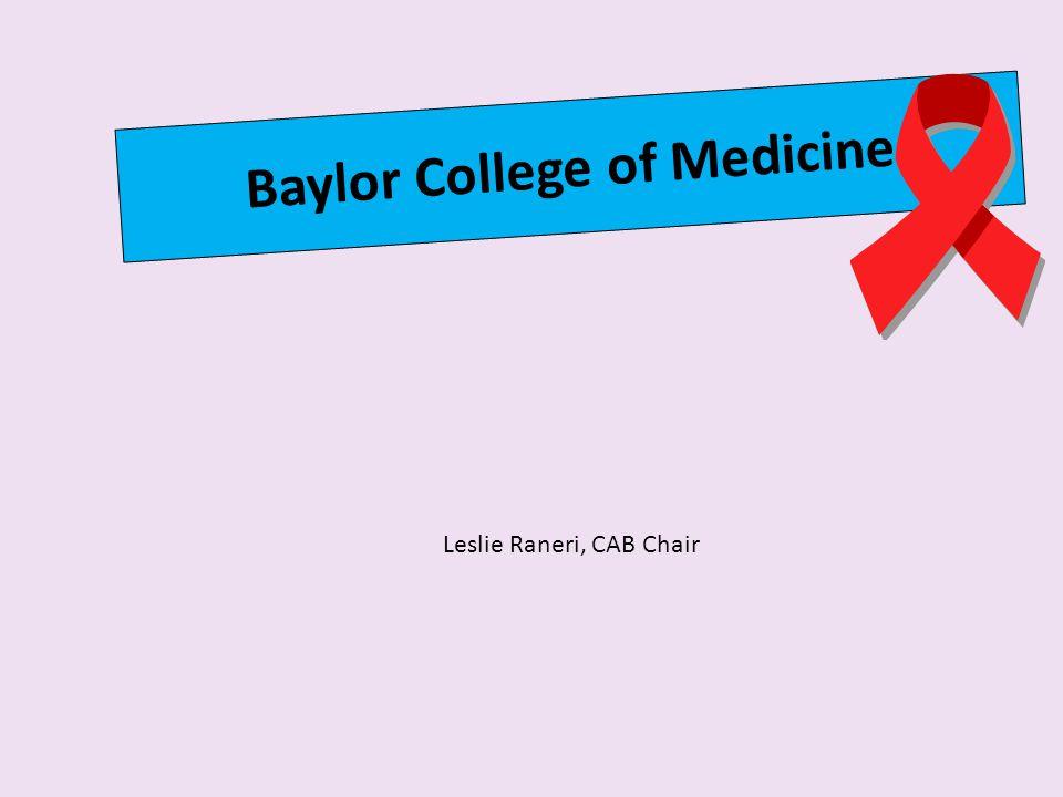 Baylor College of Medicine Leslie Raneri, CAB Chair