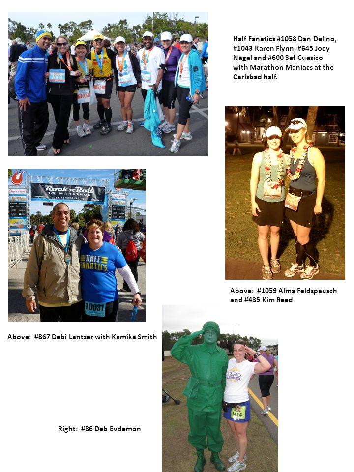 Half Fanatics #1058 Dan Delino, #1043 Karen Flynn, #645 Joey Nagel and #600 Sef Cuesico with Marathon Maniacs at the Carlsbad half.