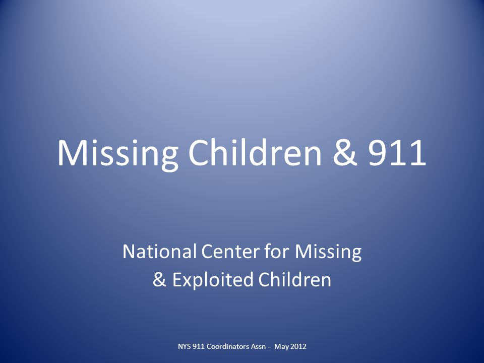 NCMEC Today Serves as a resource center in providing assistance to parents, children, law enforcement, schools, and the community in searching for and recovering missing children and raising public awareness about ways to help prevent child abductions, molestation, and sexual exploitation Assists child victims of sexual exploitation and their families Works with clearinghouses established in all 50 states plus the District of Columbia, Canada, Puerto Rico, and the Netherlands Branches established in CA, FL, TX, and NY Serves as a resource center in providing assistance to parents, children, law enforcement, schools, and the community in searching for and recovering missing children and raising public awareness about ways to help prevent child abductions, molestation, and sexual exploitation Assists child victims of sexual exploitation and their families Works with clearinghouses established in all 50 states plus the District of Columbia, Canada, Puerto Rico, and the Netherlands Branches established in CA, FL, TX, and NY