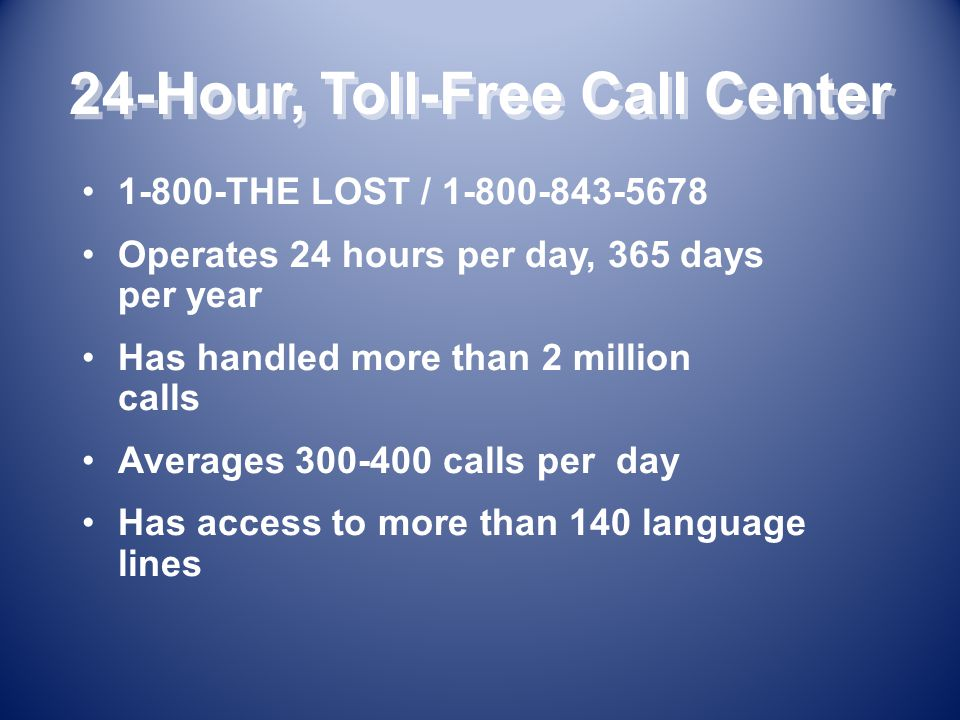 Benefits to Becoming a NCMEC 9-1-1 Call Center Partner Keeping children in your communities safer.