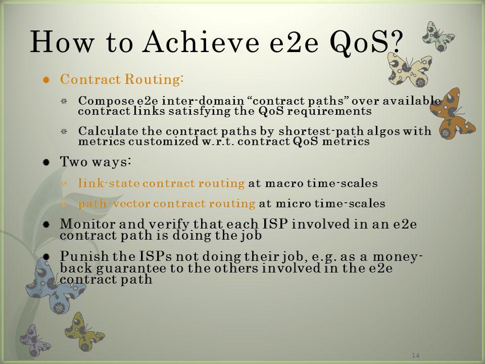 14 How to Achieve e2e QoS?