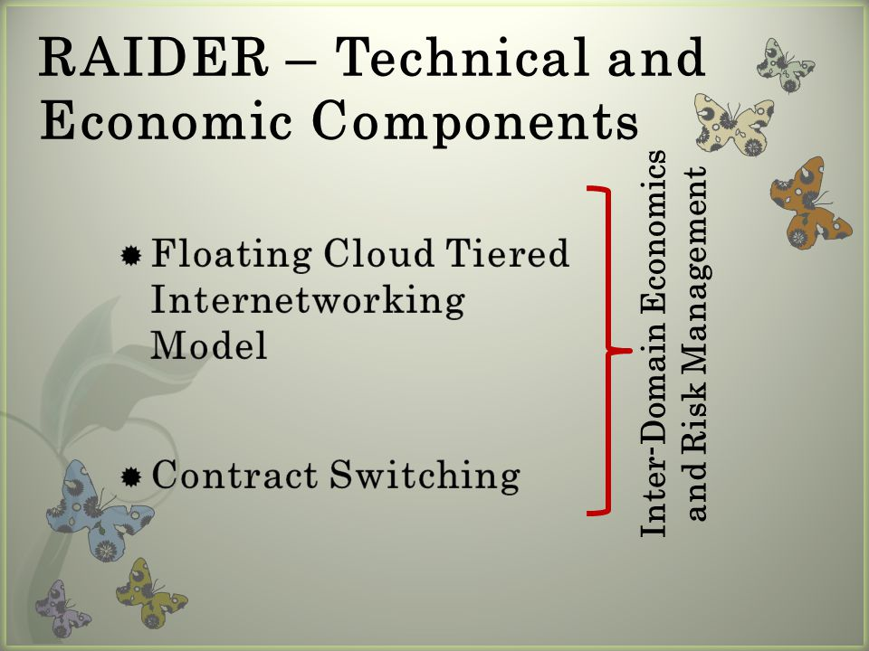15 Path-Vector Contract Routing: Micro-level, On-demand, Reactive User X 2 3 5 ISP A ISP C ISP B 14 [C, 5-4, 30Mb/s, 45mins, $9] [C-B, 5-4-2, 20Mb/s, 45mins, $6+$5] [C-B-A, 5-4-2-1, 20Mb/s, 30mins, $7.3+$3] [C, 5-3, 10Mb/s, 30mins, $5] [C-A, 5-3-1, 5Mb/s, 15mins, $1.25+$1.2] path announcement path announcement path announcement