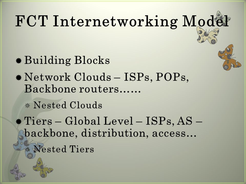 FCT – Applied – ISP Level