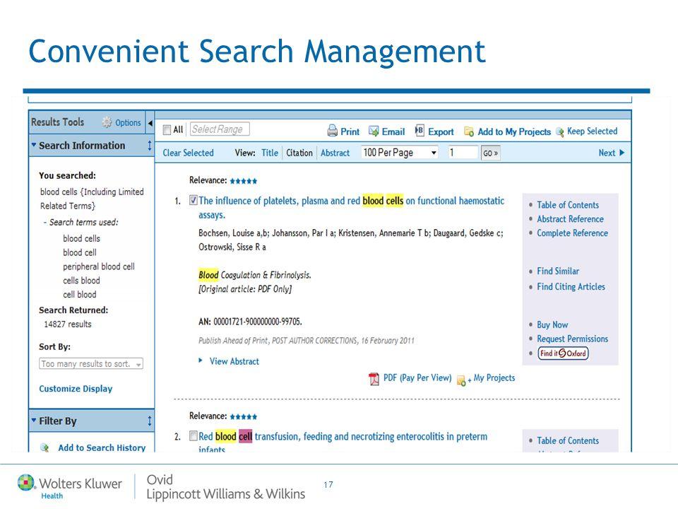 17 Convenient Search Management
