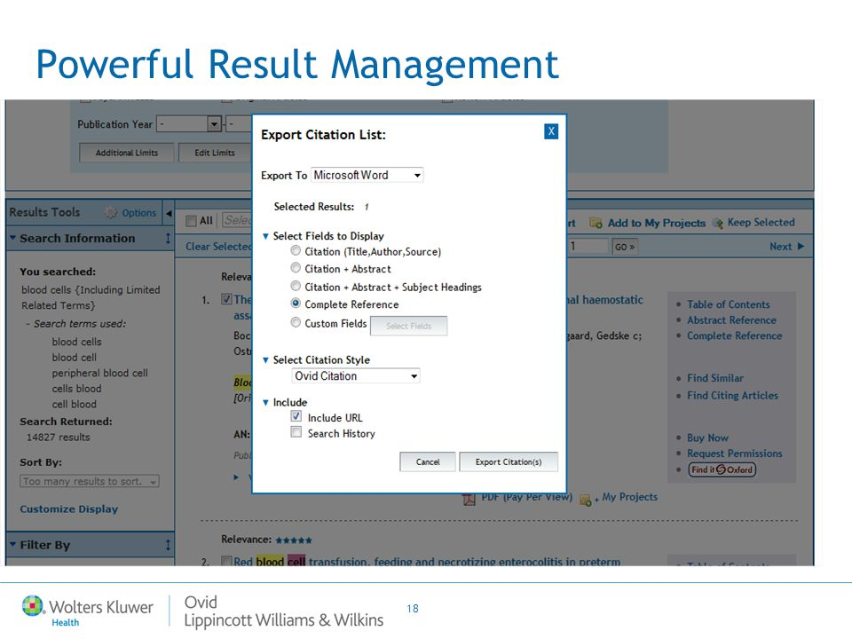 18 Powerful Result Management