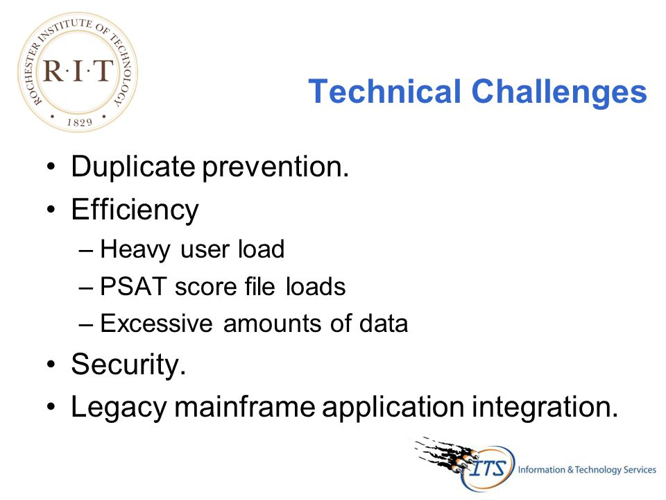 Technical Challenges Duplicate prevention.
