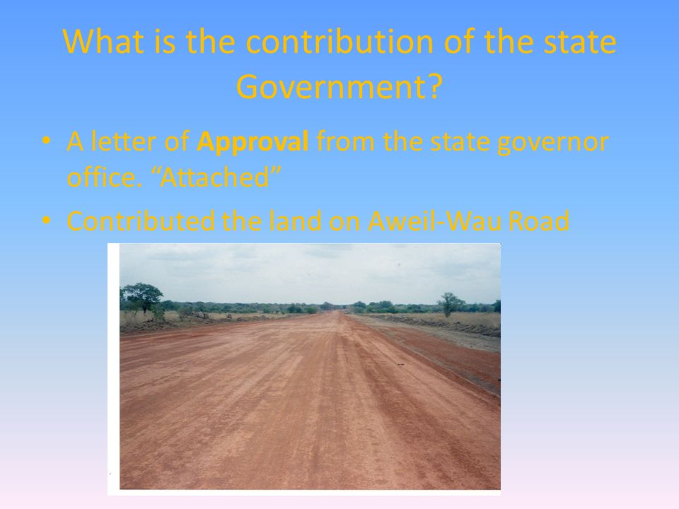 What is the contribution of the state Government.
