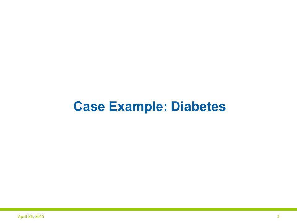 9 Case Example: Diabetes