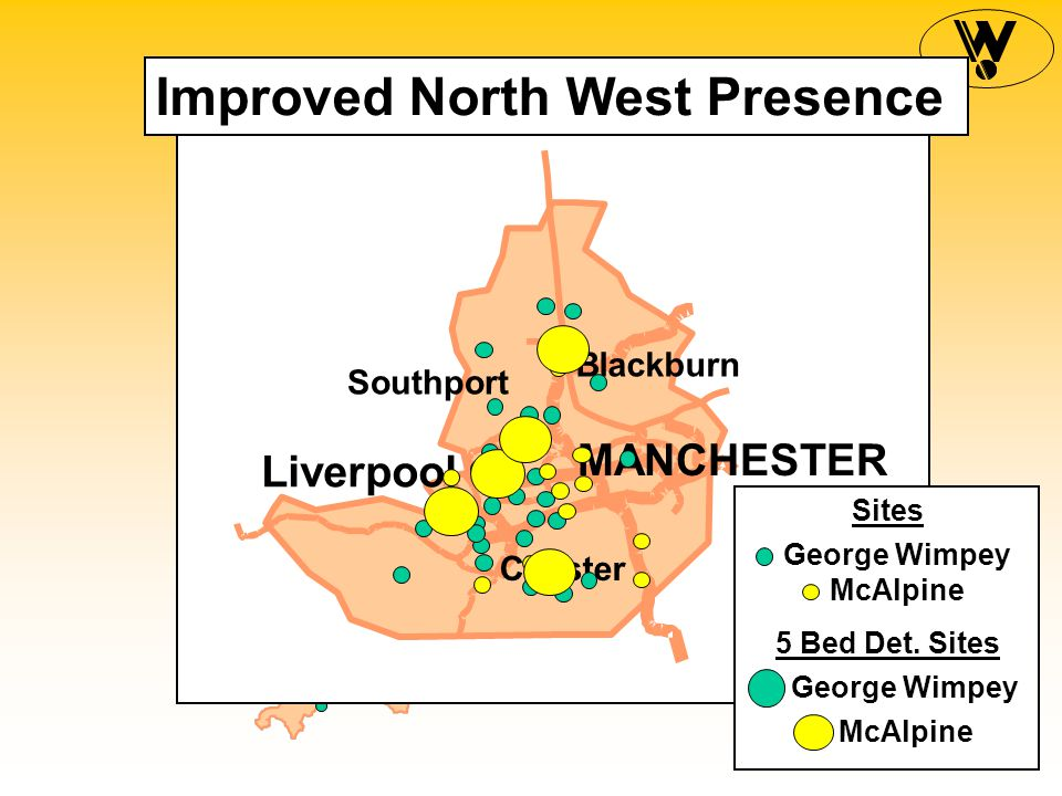McAlpine George Wimpey Sites MANCHESTER Liverpool Chester Southport Blackburn Improved North West Presence McAlpine George Wimpey 5 Bed Det.