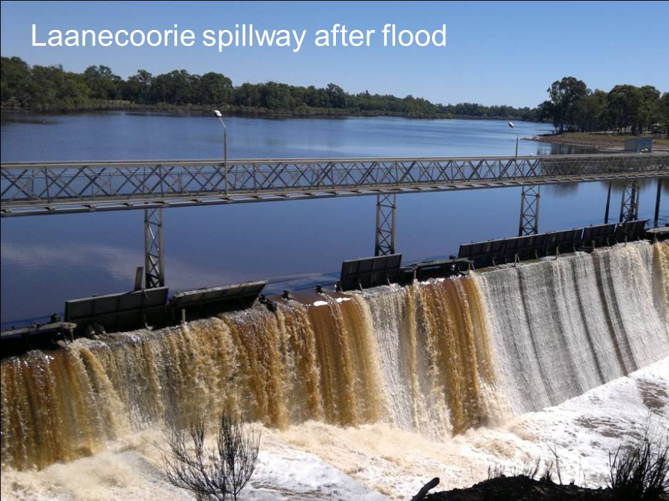 Laanecoorie spillway after flood