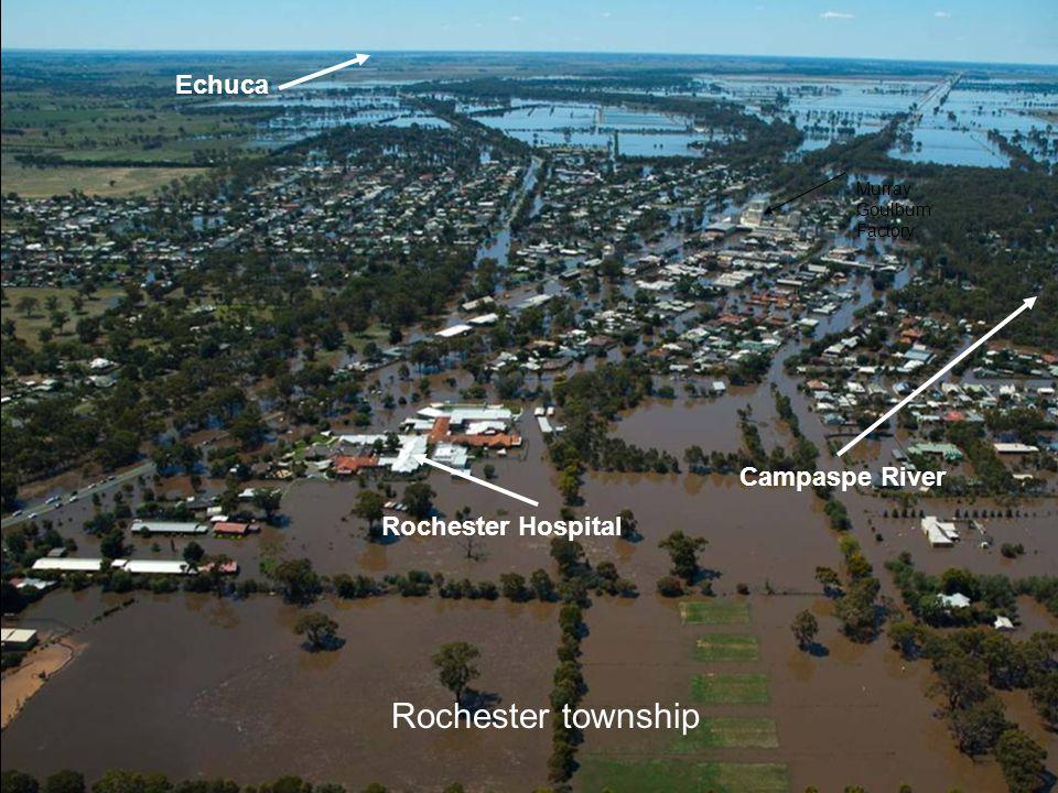 Rochester Hospital Murray Goulburn Factory Echuca Campaspe River Rochester township