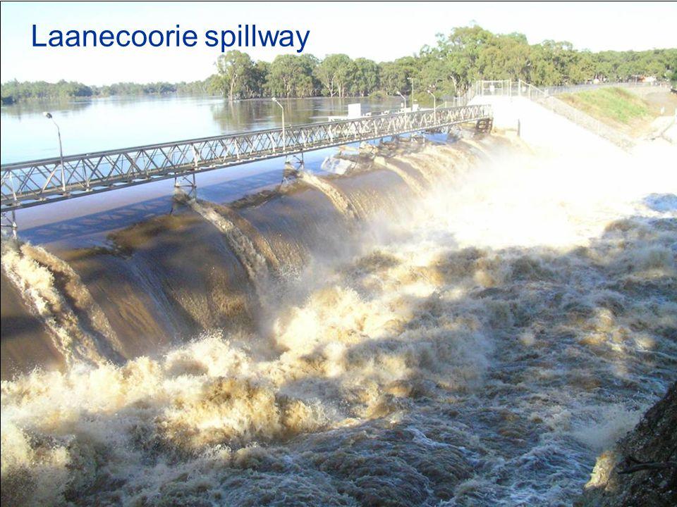 Laanecoorie spillway after flood