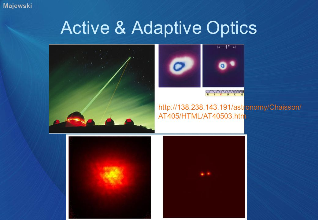 Artificial Guide Stars Shoot NaD laser at this layer.