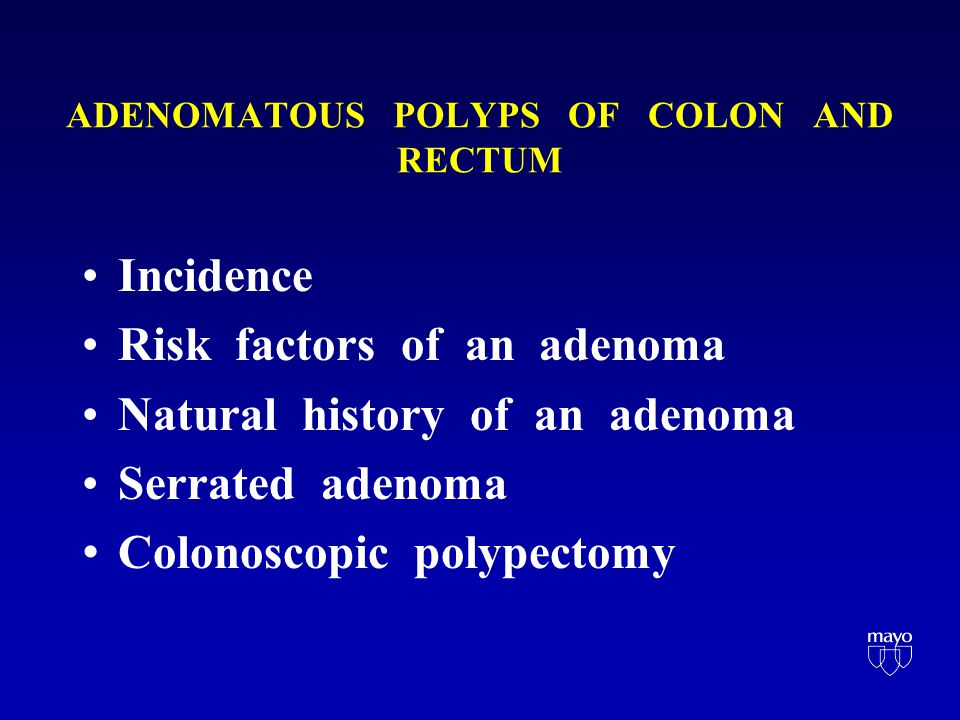The Adenoma -Carcinoma Sequence in Cancer of the Colon Raymond J.