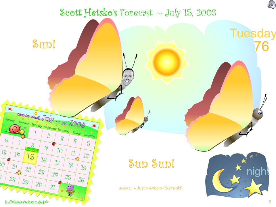 by Christine Andrews~Angelo © Christine Andrews-Angelo 9 Scott Hetsko's Forecast ~ July 15, 2008 Sun Sun.
