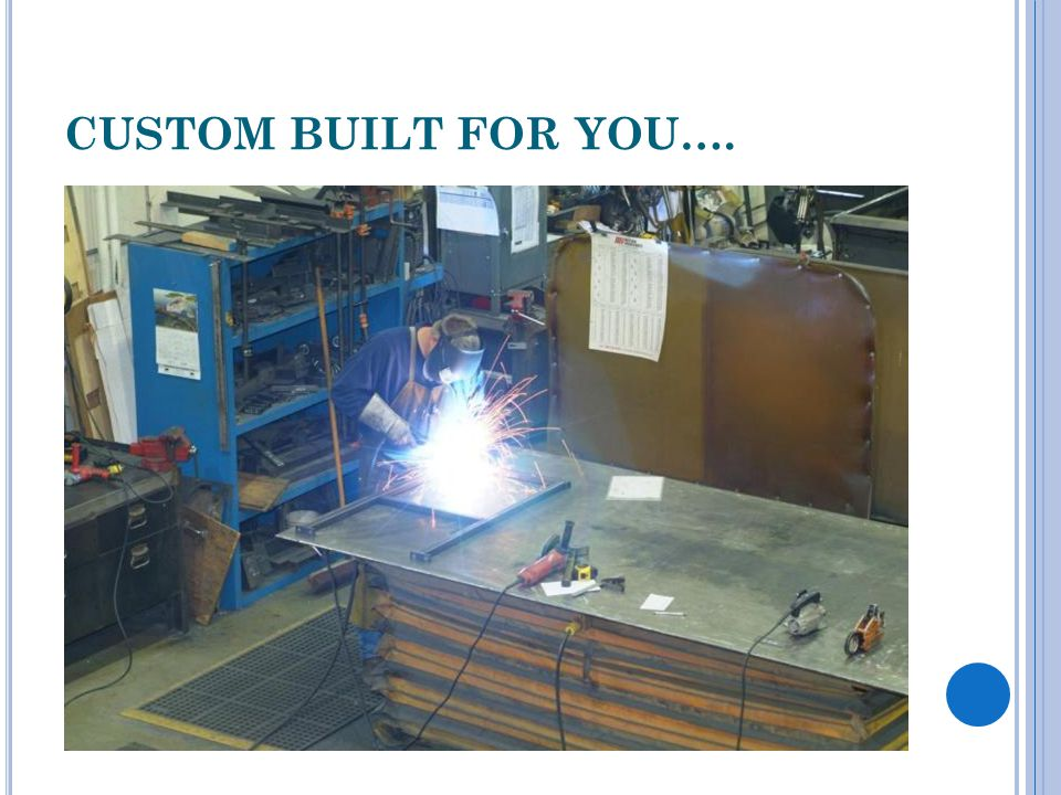 CUSTOM BUILT FOR YOU….