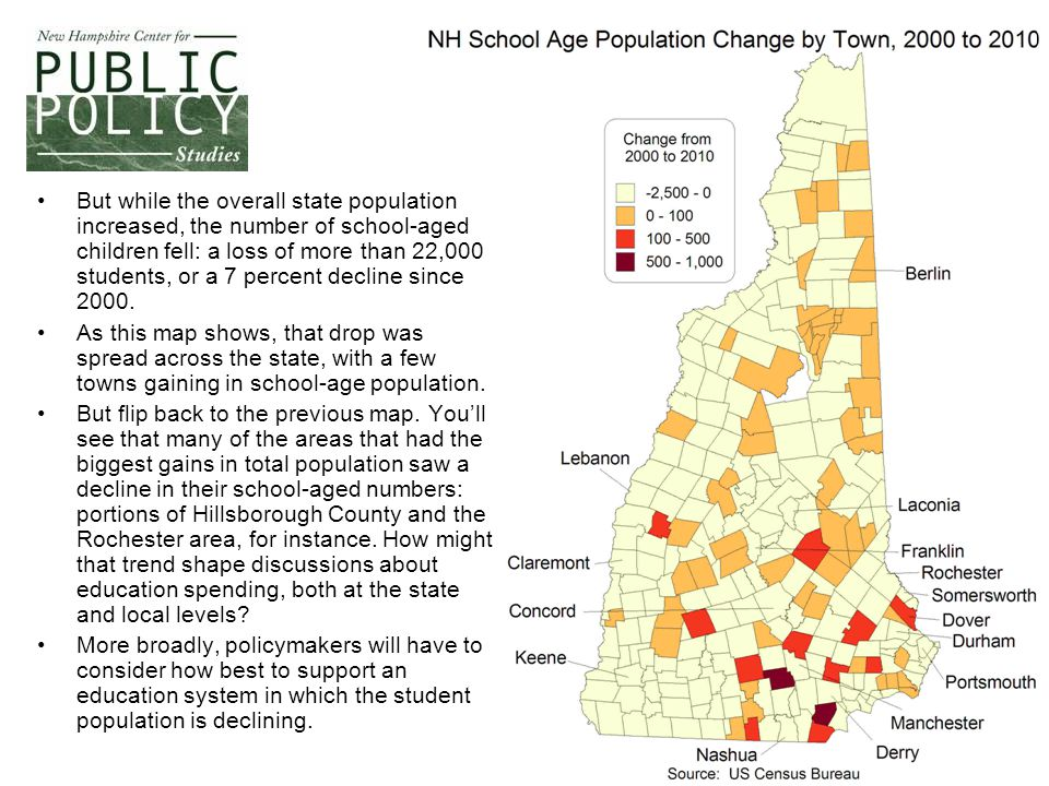 6 This map, illustrating where the growth in housing units occurred over the past decade, underscores several trends in New Hampshire's growth.