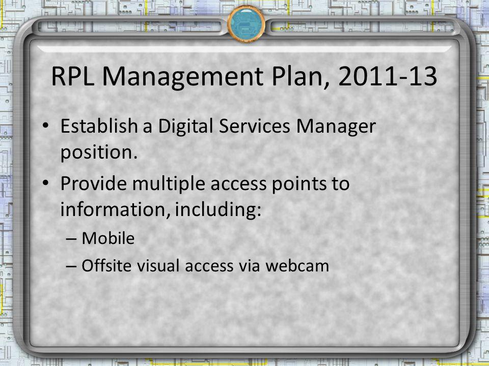 Preserve Ensure access to information born digital – e.g.