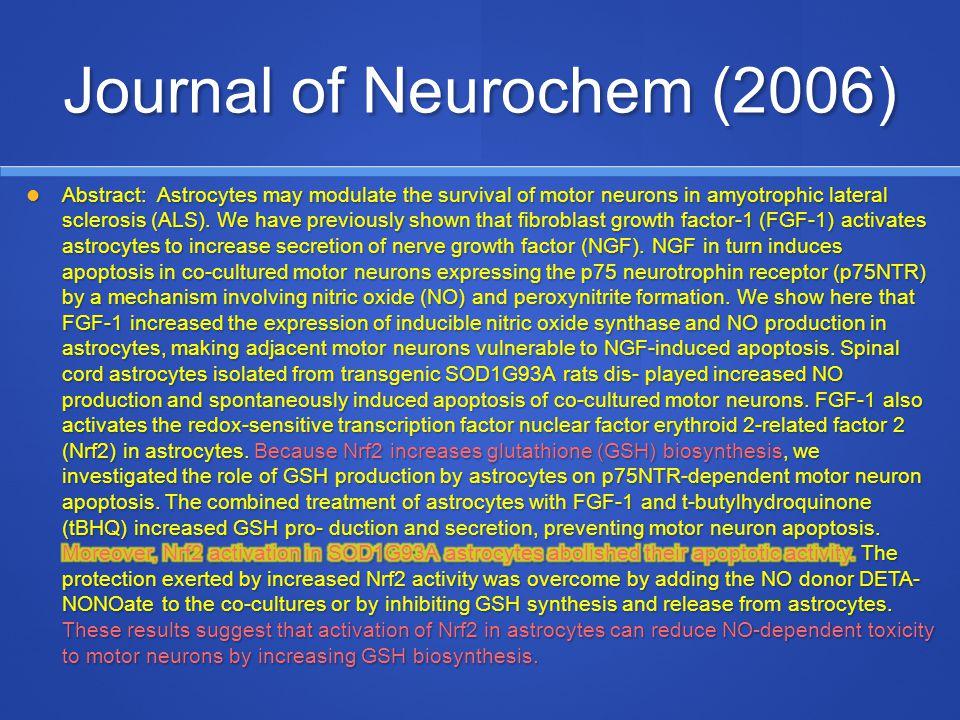 Journal of Neurochem (2006)