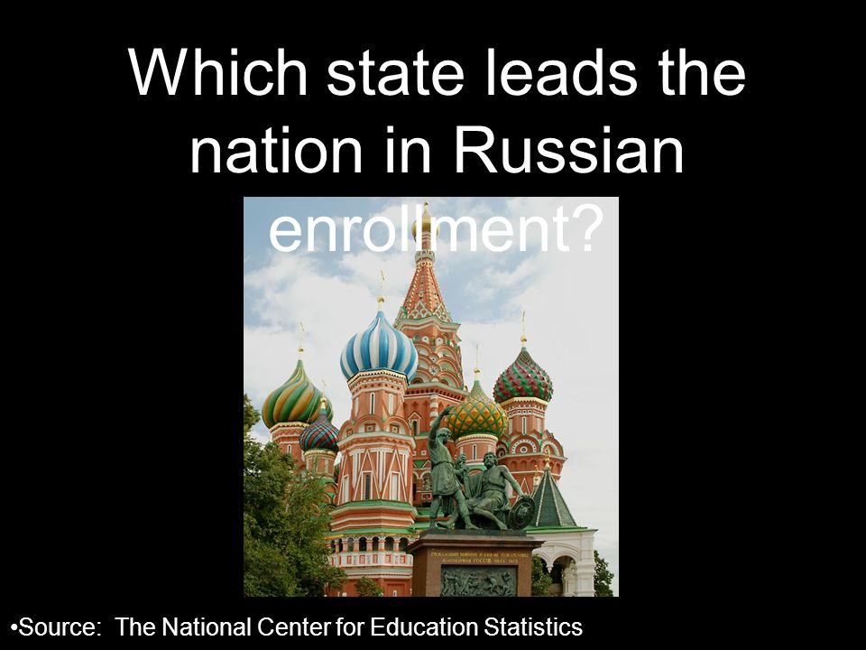 Which state leads the nation in Russian enrollment.
