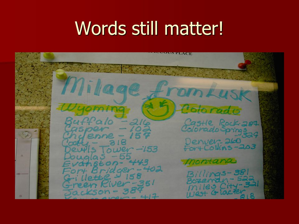 Words still matter!