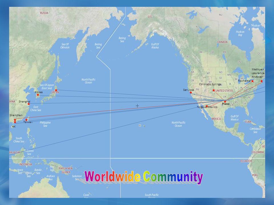 Shenzhen Methuen Lawrence Andover Colorado Springs Nogales Mexico Plano Rochester Shanghai HK Taiwan Korea San Jose