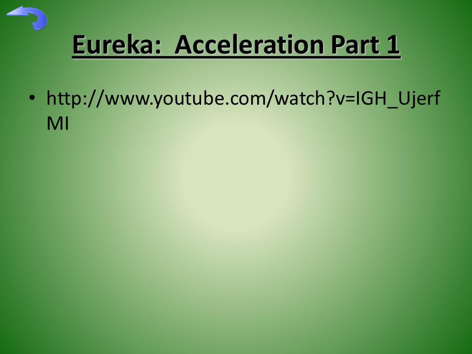 Eureka: Acceleration Part 1 http://www.youtube.com/watch v=IGH_Ujerf MI