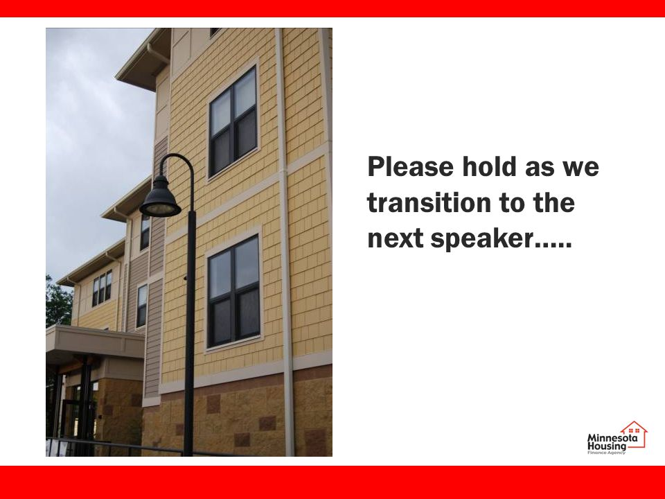 Please hold as we transition to the next speaker…..