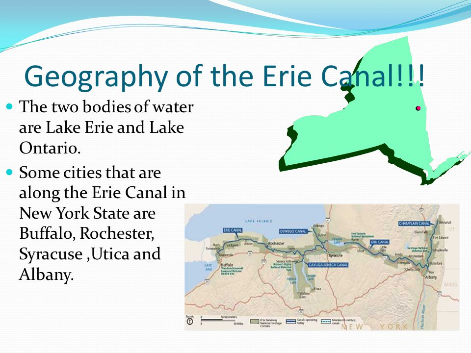 The Birth of the Erie Canal!!! Some people who helped build the Erie Canal were the Irish Americans.