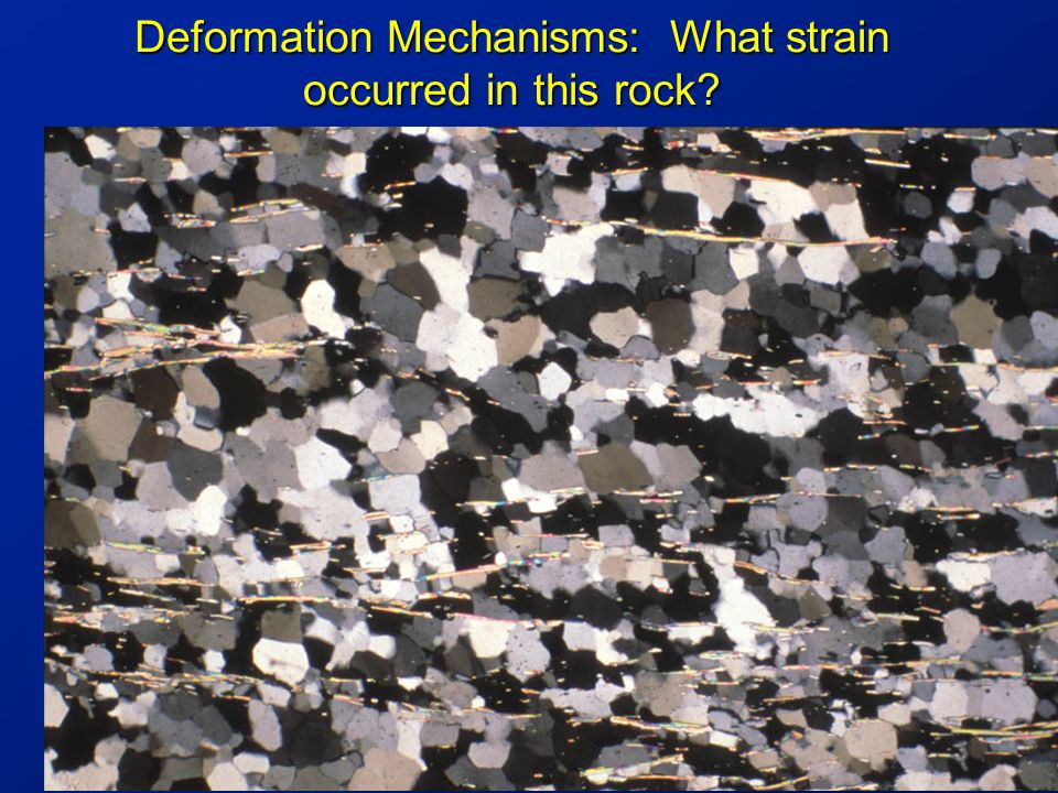 Deformation Mechanisms: What strain occurred in this rock