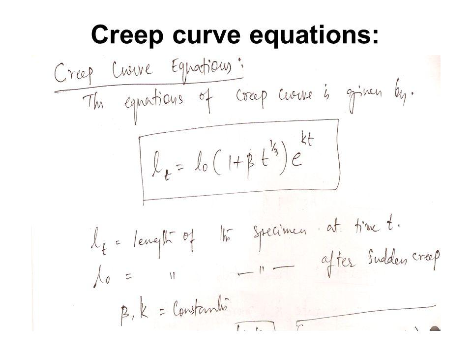 Creep curve equations: