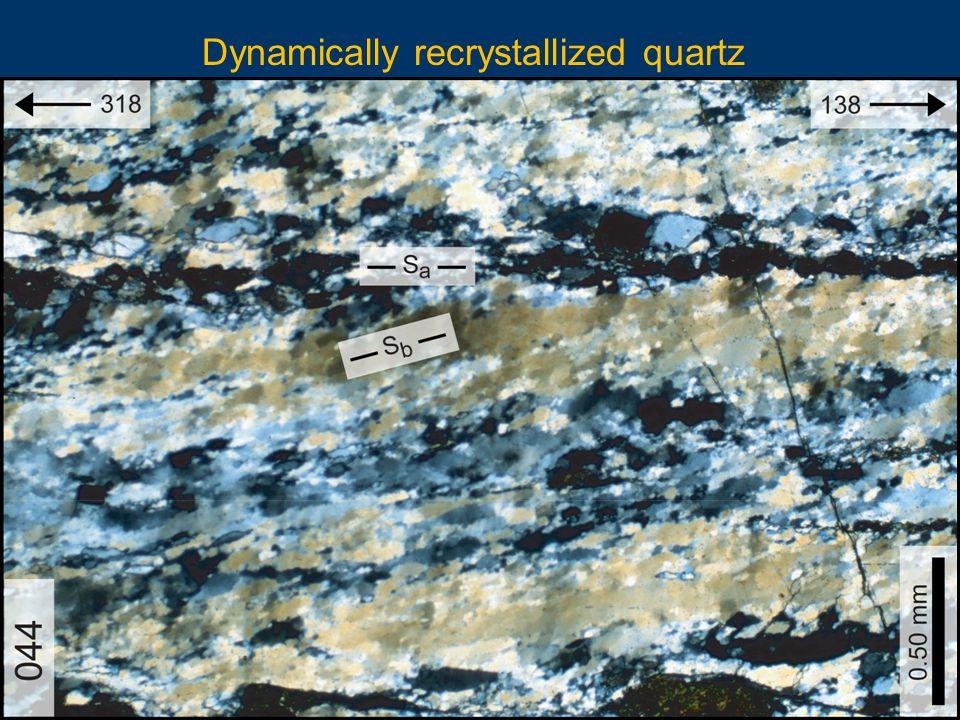 Dynamically recrystallized quartz