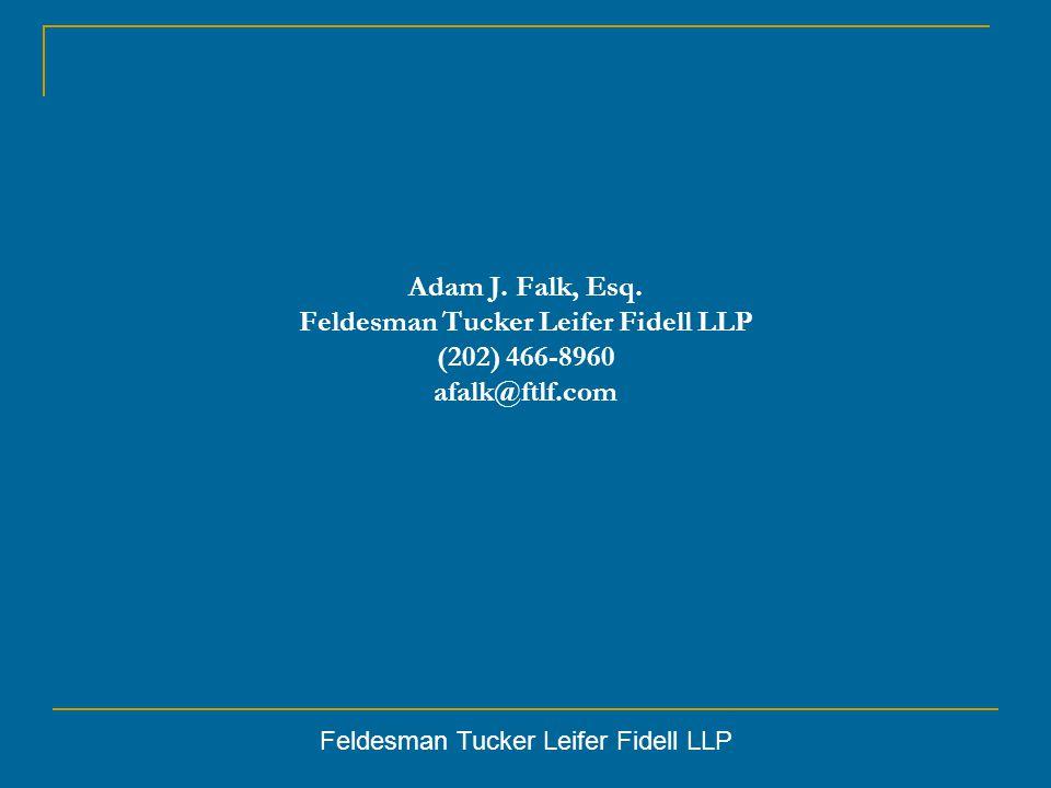 Feldesman Tucker Leifer Fidell LLP Adam J. Falk, Esq.