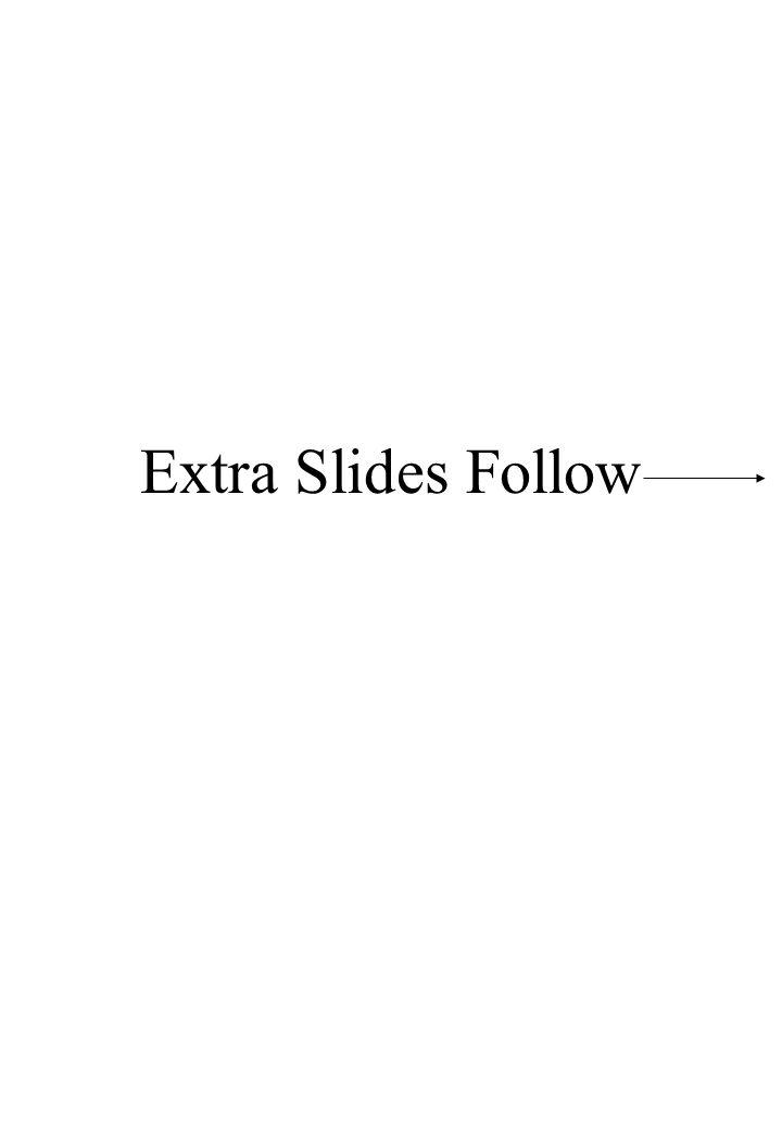 Extra Slides Follow
