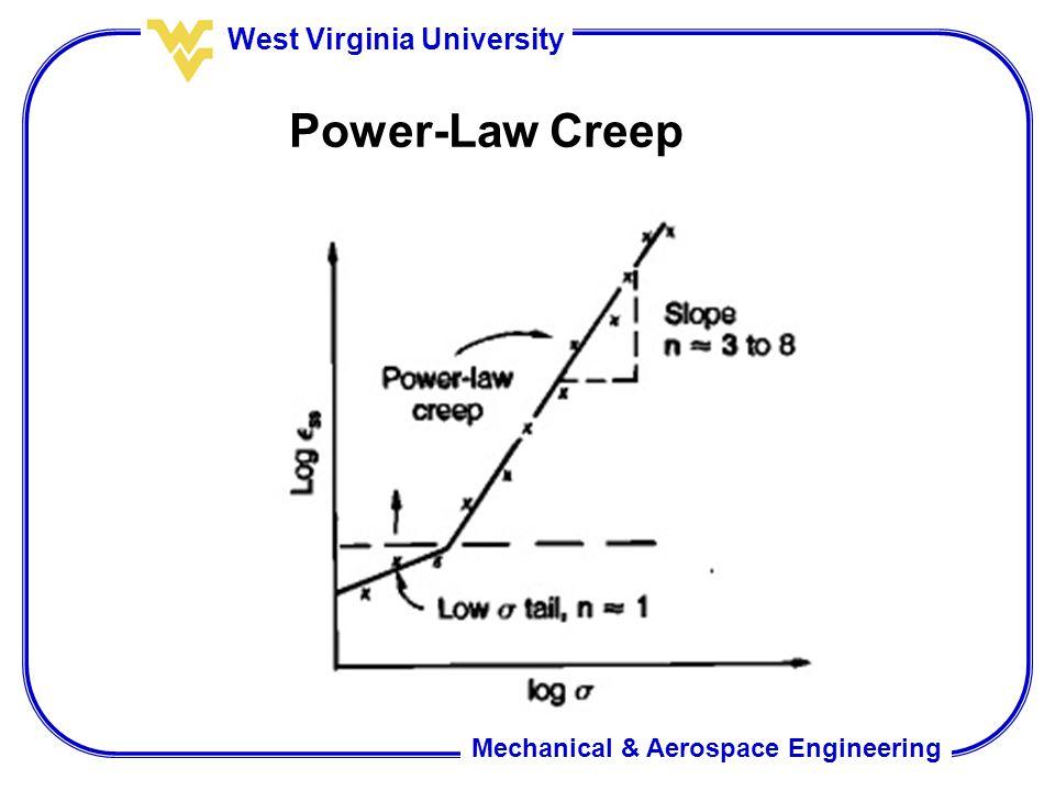 Mechanical & Aerospace Engineering West Virginia University Power-Law Creep