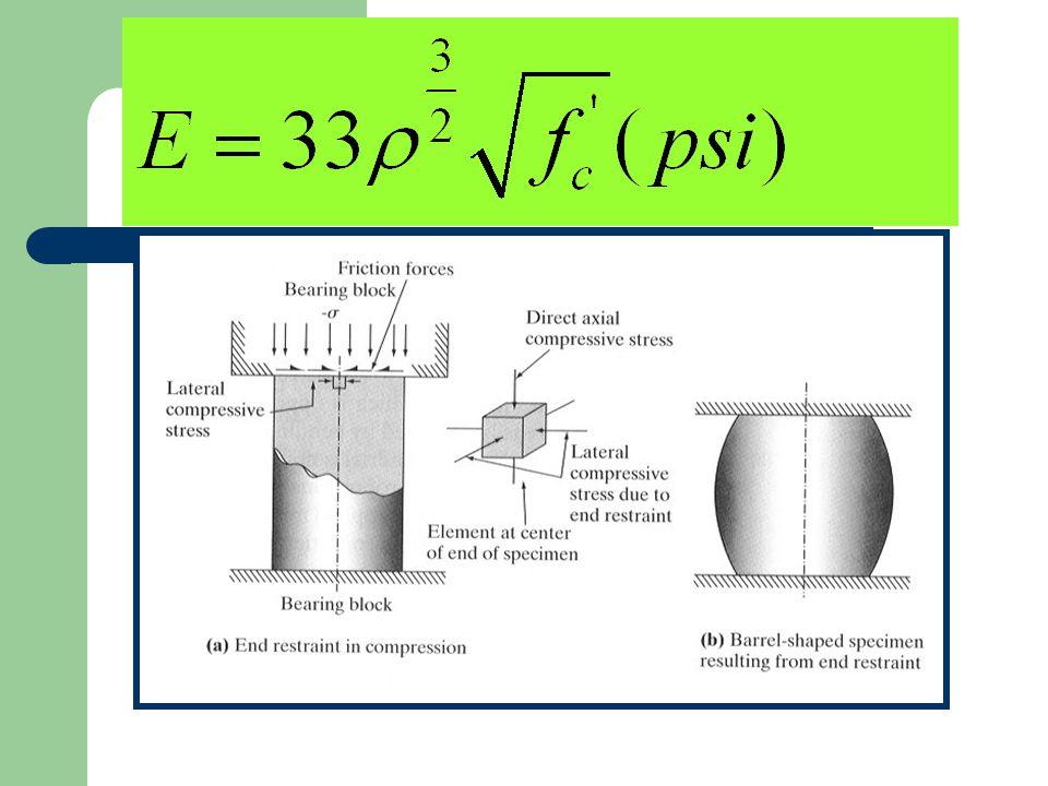 Concrete Thermal Contraction (con't) T conc = Concrete placement temperature at construction ( o F).