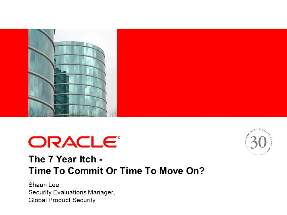 The 7 Year Itch - Time To Commit Or Time To Move On.