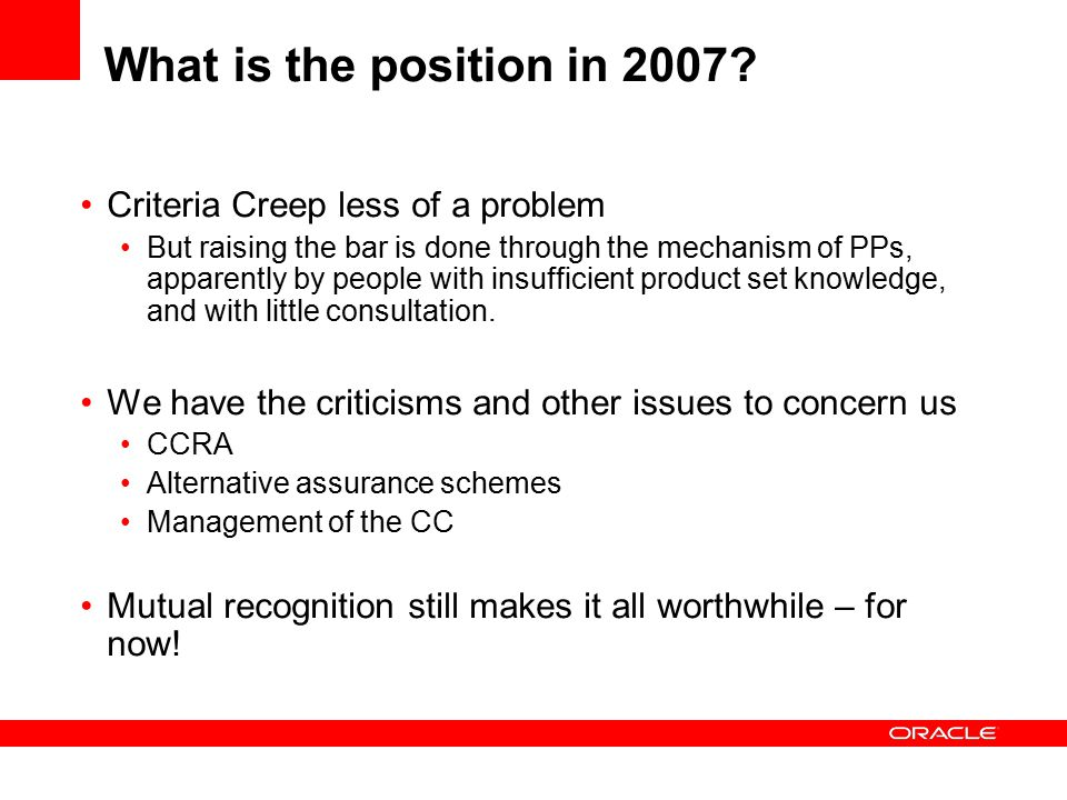 What is the position in 2007.