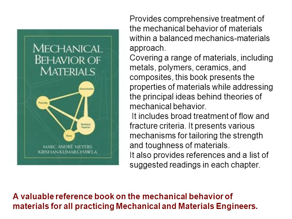This text differs from others because the treatment of plasticity has greater emphasis on the interrelationship of the flow, effective strain and effective stress and their use in conjunction with yield criteria to solve problems.