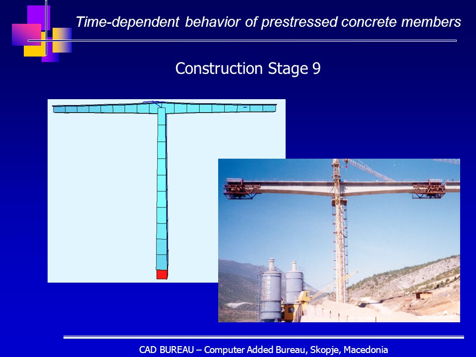 CAD BUREAU – Computer Added Bureau, Skopje, Macedonia Construction Stage 9 Time-dependent behavior of prestressed concrete members