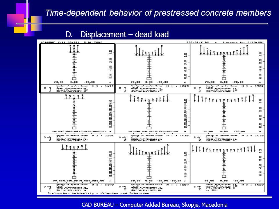 CAD BUREAU – Computer Added Bureau, Skopje, Macedonia Time-dependent behavior of prestressed concrete members D.