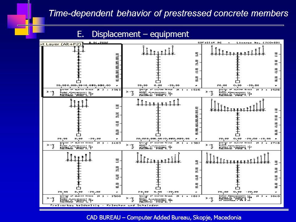 CAD BUREAU – Computer Added Bureau, Skopje, Macedonia Time-dependent behavior of prestressed concrete members E.