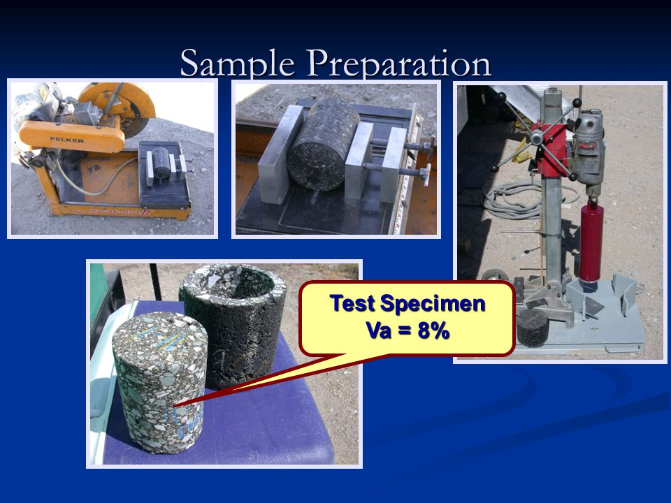 Sample Preparation Test Specimen Va = 8%