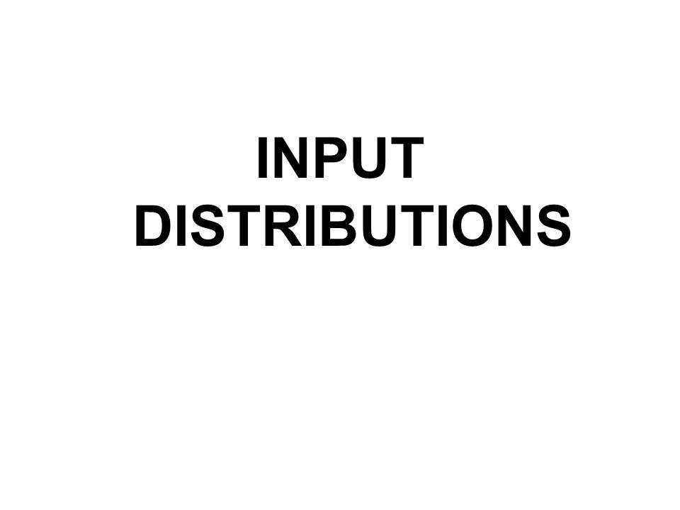 INPUT DISTRIBUTIONS
