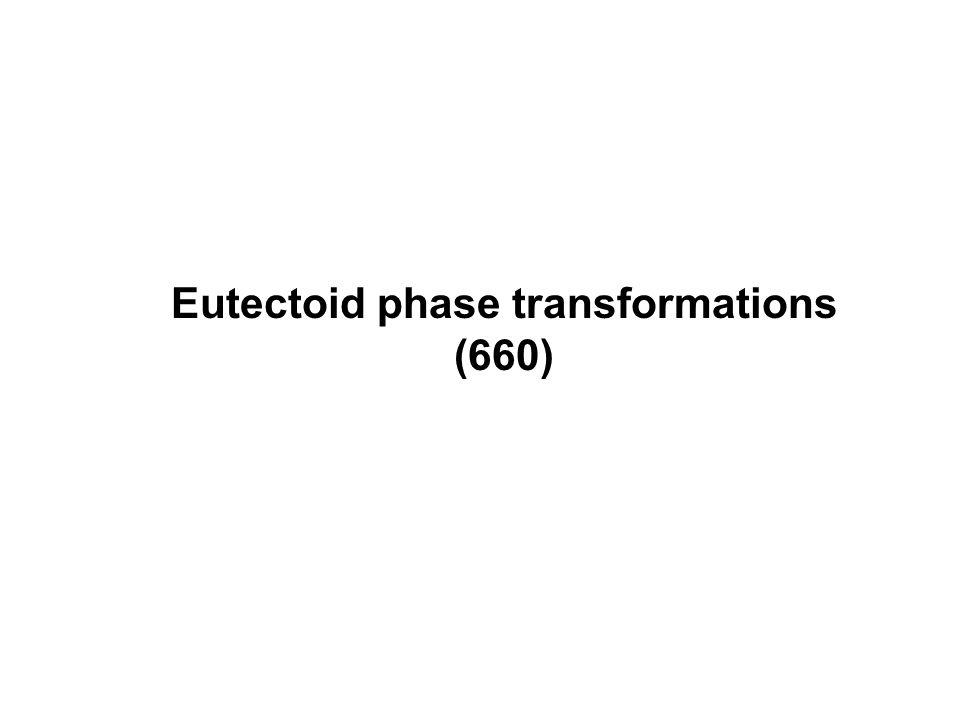 Eutectoid phase transformations (660)