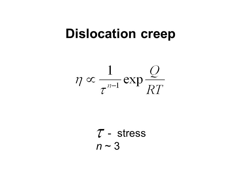 - stress n ~ 3