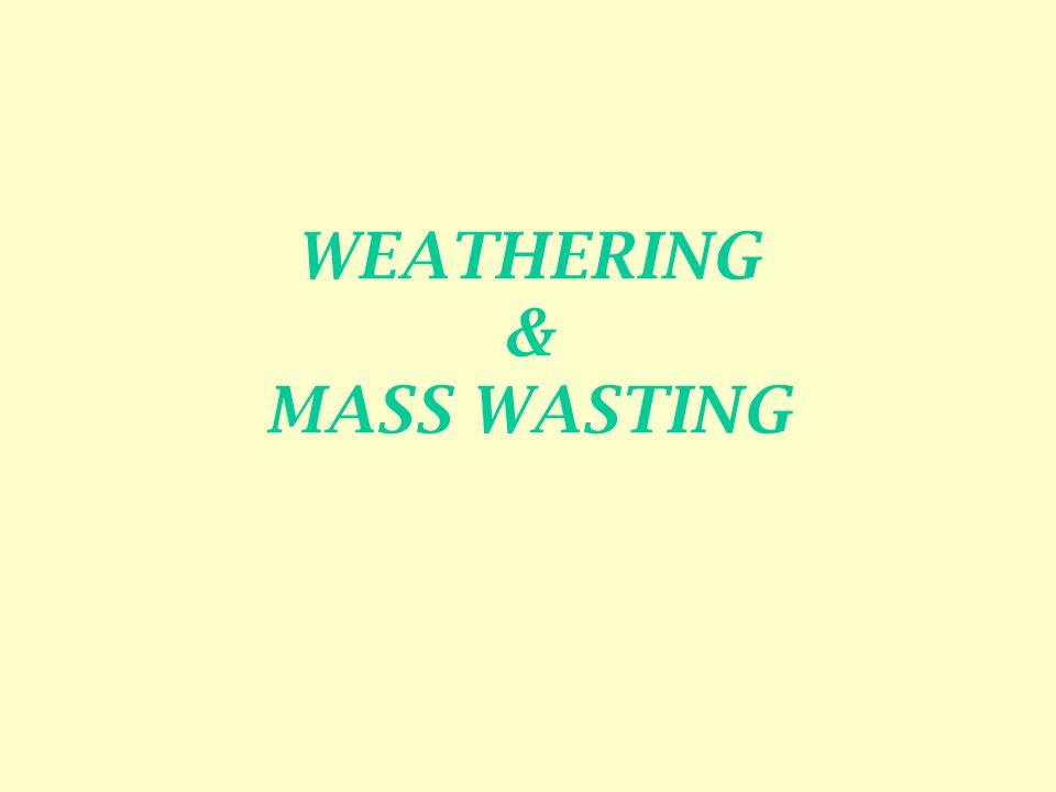 WEATHERING & MASS WASTING