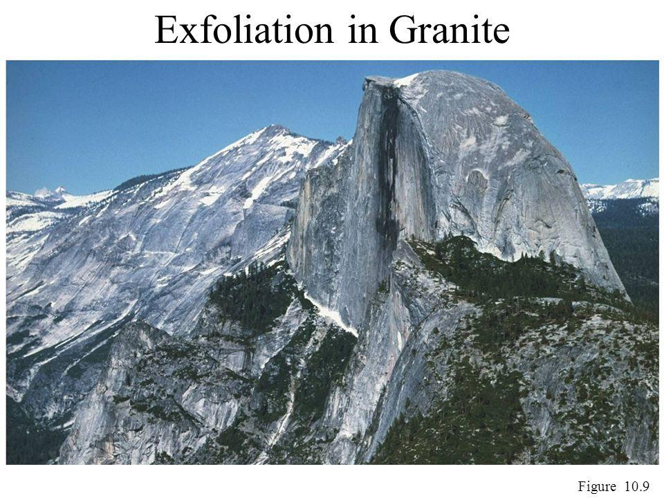 Exfoliation in Granite Figure 10.9