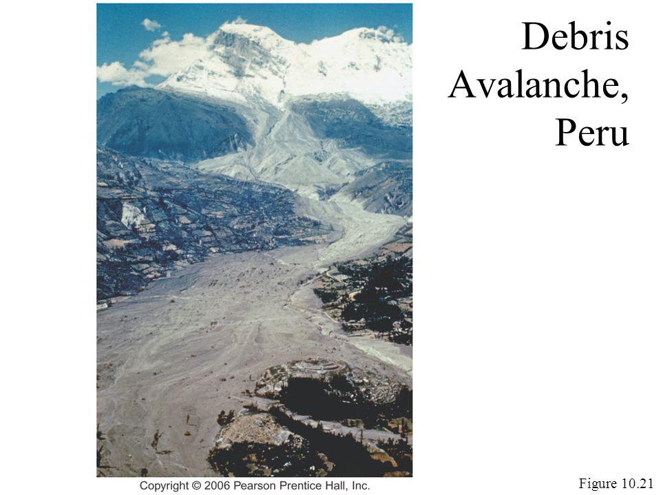 Debris Avalanche, Peru Figure 10.21